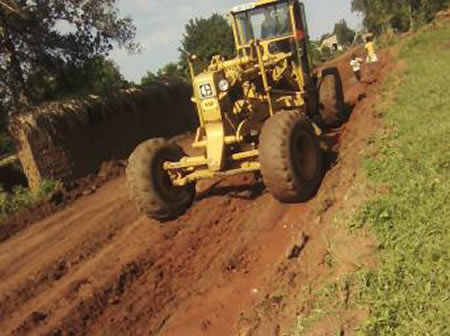 Spreading Graval in Kikaaya-Wakiso District