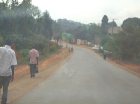 Completed section along Bwala Hill road in Masaka