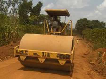 Compacted section stabilized subbase layer - Nsimbe road Kawempe Division