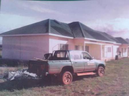 Side View of CAA Staff Houses at Kidepo National Park